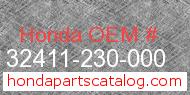 Honda 32411-230-000 genuine part number image