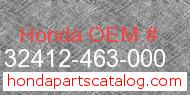 Honda 32412-463-000 genuine part number image