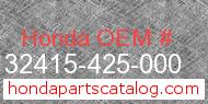 Honda 32415-425-000 genuine part number image