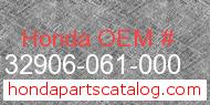 Honda 32906-061-000 genuine part number image