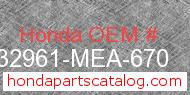 Honda 32961-MEA-670 genuine part number image