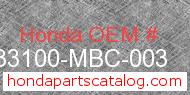 Honda 33100-MBC-003 genuine part number image