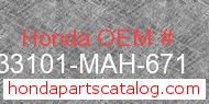 Honda 33101-MAH-671 genuine part number image