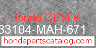 Honda 33104-MAH-671 genuine part number image