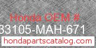 Honda 33105-MAH-671 genuine part number image