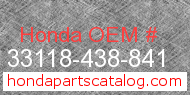 Honda 33118-438-841 genuine part number image