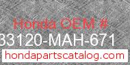 Honda 33120-MAH-671 genuine part number image