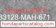 Honda 33128-MAH-671 genuine part number image