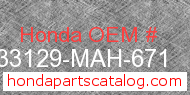 Honda 33129-MAH-671 genuine part number image