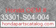 Honda 33301-S04-004 genuine part number image
