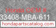 Honda 33408-MBA-611 genuine part number image