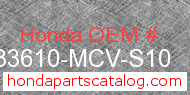 Honda 33610-MCV-S10 genuine part number image
