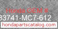 Honda 33741-MC7-612 genuine part number image