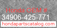 Honda 34906-425-771 genuine part number image