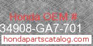 Honda 34908-GA7-701 genuine part number image