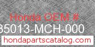 Honda 35013-MCH-000 genuine part number image