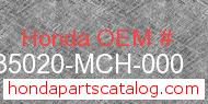 Honda 35020-MCH-000 genuine part number image