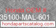 Honda 35100-MAL-601 genuine part number image