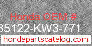 Honda 35122-KW3-771 genuine part number image