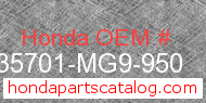 Honda 35701-MG9-950 genuine part number image