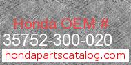 Honda 35752-300-020 genuine part number image