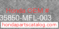 Honda 35850-MFL-003 genuine part number image