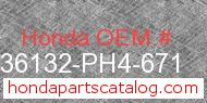 Honda 36132-PH4-671 genuine part number image