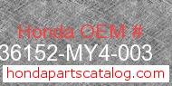 Honda 36152-MY4-003 genuine part number image