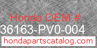 Honda 36163-PV0-004 genuine part number image