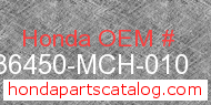 Honda 36450-MCH-010 genuine part number image