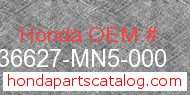 Honda 36627-MN5-000 genuine part number image