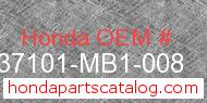 Honda 37101-MB1-008 genuine part number image
