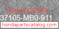 Honda 37105-MB0-911 genuine part number image