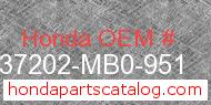 Honda 37202-MB0-951 genuine part number image