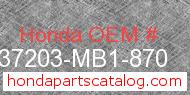 Honda 37203-MB1-870 genuine part number image