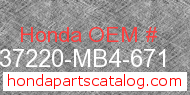 Honda 37220-MB4-671 genuine part number image