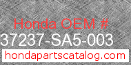 Honda 37237-SA5-003 genuine part number image