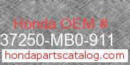 Honda 37250-MB0-911 genuine part number image
