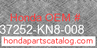 Honda 37252-KN8-008 genuine part number image