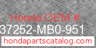 Honda 37252-MB0-951 genuine part number image
