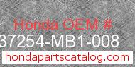 Honda 37254-MB1-008 genuine part number image