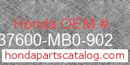 Honda 37600-MB0-902 genuine part number image