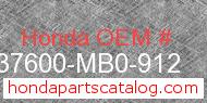 Honda 37600-MB0-912 genuine part number image