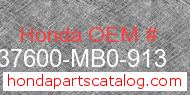 Honda 37600-MB0-913 genuine part number image