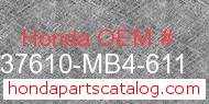 Honda 37610-MB4-611 genuine part number image