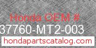 Honda 37760-MT2-003 genuine part number image