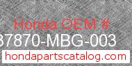 Honda 37870-MBG-003 genuine part number image