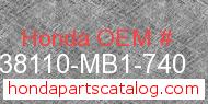Honda 38110-MB1-740 genuine part number image
