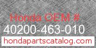 Honda 40200-463-010 genuine part number image
