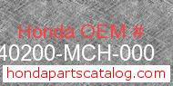 Honda 40200-MCH-000 genuine part number image